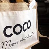 COCO MON AM❤️UR Le cabas 100% personnalisé de notre gagnante @coralieperello 🎁  Merci encore de ta confiance et de ta participation ! ✨ #ostara#creation#creations#handmade#concours#art#bag#cabas#french#likes