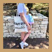 Le tote bag, un format léger idéal pour vos vacances et sorties en pleine nature 🌿 #totebag #totebagpersonnalisé