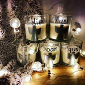 La magie de Noël... et ses petites décorations🎅🏻 #bougiespersonnalisées #noel #creatricefrancaise #silhouettecameo3 #ostaracreations